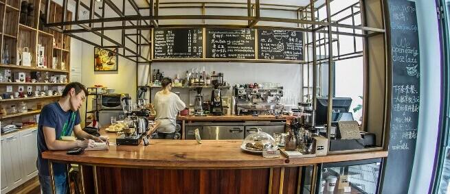 咖啡館吧臺空間設計